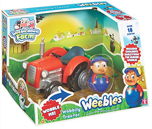 Character Options Kids Weebledown Farm Wobbily Tractor And Farmer from Weebles