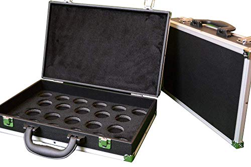 Weichster Black Aluminum Snooker Ball Case Match Full Size Carrying Case from Weichster
