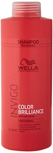 Wella Invigo Color Brilliance Shampoo with Lime Caviar for Fine Hair, 1.101 kg from WELLA
