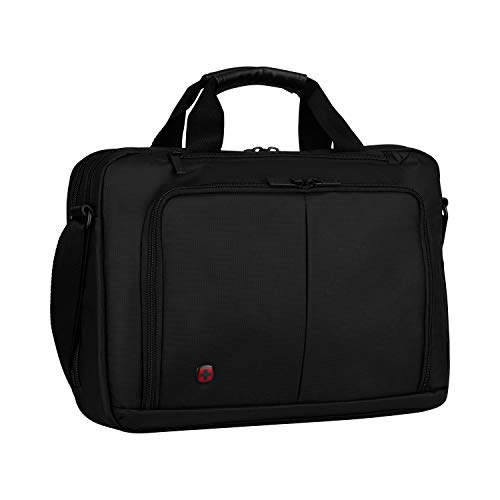 "Wenger 601066 SOURCE 16"" Laptop Briefcase , Padded laptop compartment with iPad/Tablet / eReader Pocket in Black {10 Litres} from Wenger"