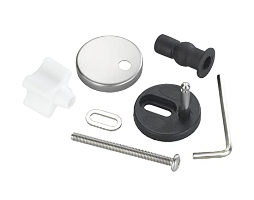 WENKO 290221100 Mounting element for toilet seats Easy Close - mounting element for toilet seats - replacement set, chrome-metal, Stainless steel, Matt from Wenko