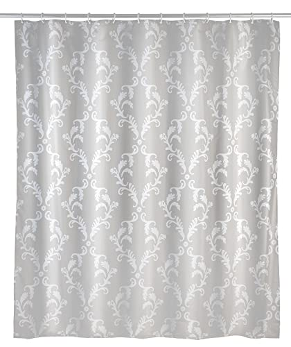 Wenko Mould Shower Curtain Baroque-Anti-Bacterial, Washable, Polyester, Beige, 180 x 200 x 1 cm from Wenko