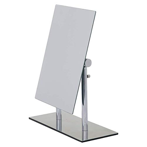 Wenko 3656420100 Standing beauty mirror Pinerolo collapsible, Metal Steel, 23 x 2735 x 10 cm, Chrome from Wenko