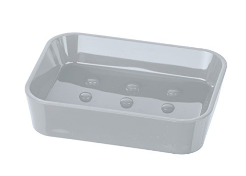 "Wenko"" Candy Soap Dish, PS, Grey, 12 x 9 x 3 cm from Wenko"