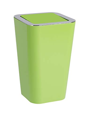 "Wenko"" Candy Swing Cover Bin, PS/ABS, Green, 18 x 18 x 28.5 cm from Wenko"