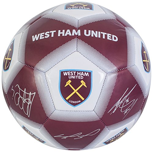 West Ham United FC Kids' WH04916 West Ham Size 5 Signature Football, Multi-Colour from West Ham United F.C.