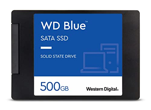 Western Digital WDS500G2B0A WD Blue 3D NAND Internal SSD 2.5 Inch SATA, 500 GB from Western Digital