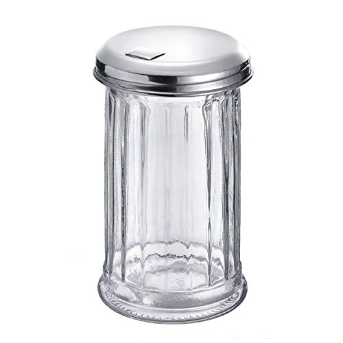 Westmark Sugar Shaker, Volume: 300 ml, Glass/Stainless Steel, New York, Silver/Transparent, 65202260 from Westmark