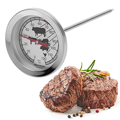 Westmark Roasting Thermometer, Stainless Steel, Silver, 14 x 5.5 x 5.5 cm from Westmark