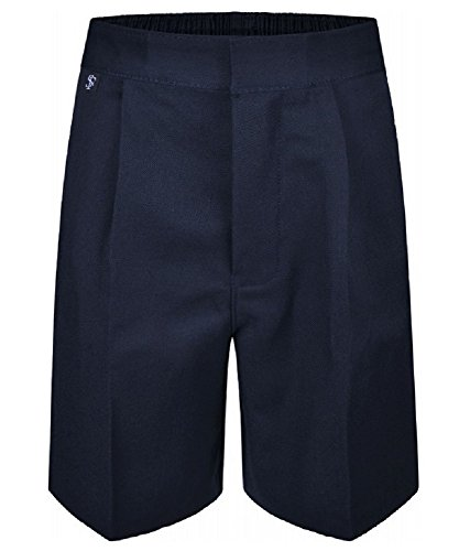 Westwood Boys Pull Up School Shorts Elasticated Pull On Black Grey Navy Ages 2 3 4 5 6 7 8 9 10 11 12 13 (Easy Dress - No Zips or Hooks) from Westwood