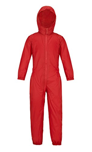 Wetplay Puddle Splash Suit Waterproof All In One Kids Rainsuit Childrens Childs Boys Girls (3-4 Years, Red) from Wetplay