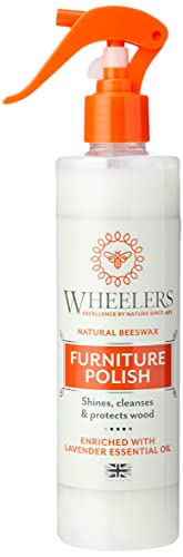 Wheelers Beeswax Furniture Polish Spray, 300ml | Cleanses, Nourishes & Protects | Pure Natural Beeswax | Furniture Excellence Since 1983 from Wearwell