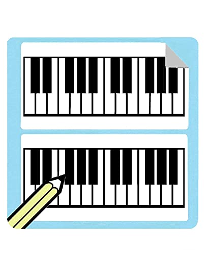 Filled Large Piano/Keyboard Diagram Stickers (50 Sticker Per Pack) AT CHECKOUT! from WhirlWindPress.ca