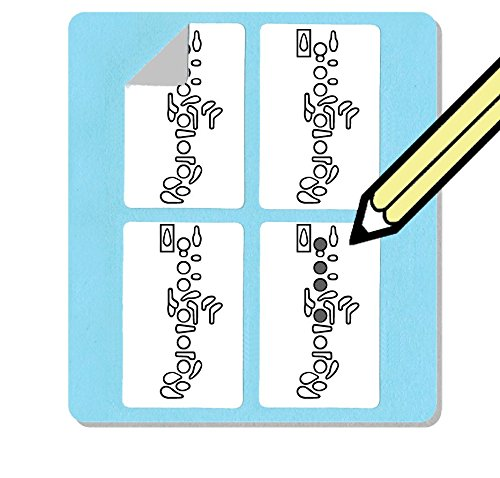 Oboe Fingering Stickers Set (250 Pack) Super handy for students and teachers! from WhirlWindPress.ca