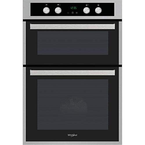 Whirlpool AKL 309 IX Built-in Double Oven in Inox and Black from Whirlpool