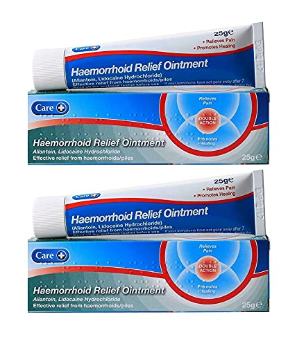 2x Haemorrhoid Relief Ointment Cream from White Hinge