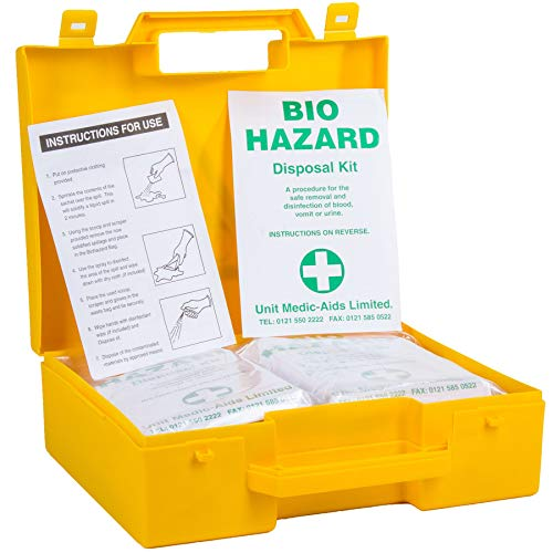 5x HSE Biohazard Disposal Box Kit - Bodily Fluid Clean Up Kit from White Hinge