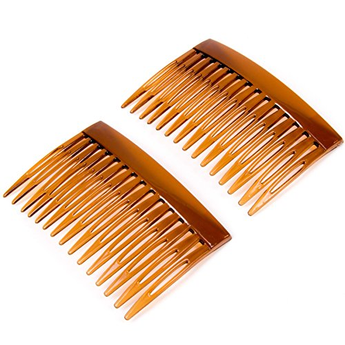 6x Tortoise Shell Side Hair Combs from White Hinge