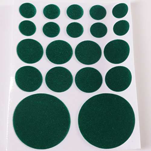 White Hinge Baize Green Felt Pads 20Pc Self Adhesive Stick On Protective Ceramic Glass Mirror Ornament Chess Feet from White Hinge
