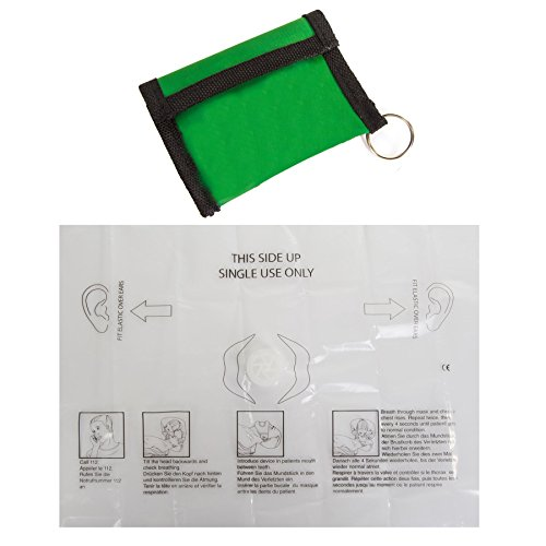 CPR Resuscitator Mask - Pouch Fits On Keyrings & Chains - Mouth to Mouth First Aid Face Shield from White Hinge