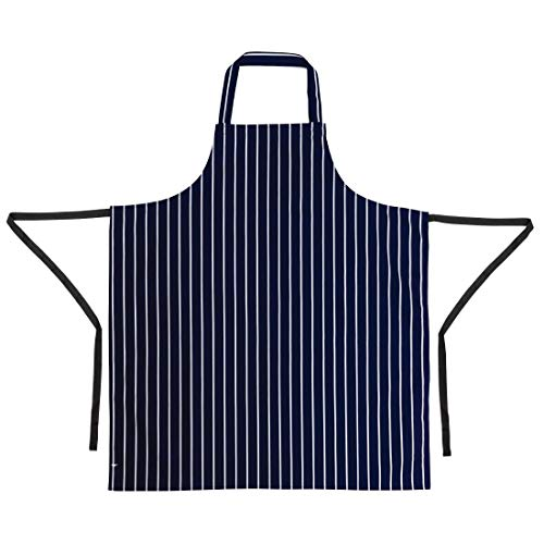 Whites Chefs Apparel A530 Whites Butchers Apron, Navy Stripe from Whites Chefs Apparel