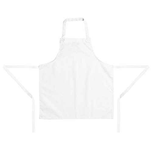 Whites Chefs Clothing Apparel Kids Childrens Bib Apron White Polycotton Cooking One Size from Whites Chefs Clothing