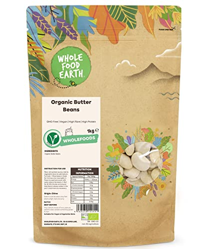 Wholefood Earth Organic Butter Beans, 1 kg from Wholefood Earth