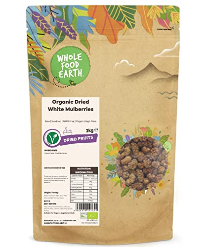 Wholefood Earth Organic White Mulberries, 2 kg from Wholefood Earth