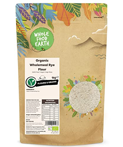 Wholefood Earth Organic Wholemeal/Dark Rye Flour 1 kg from Wholefood Earth