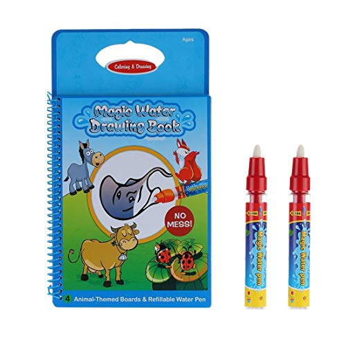 WholethingsGB Aqua Reusable Doodle Magic Book with 2 Magic Pen,Baby Early Education Water Drawing Books(Farm) from WholethingsGB