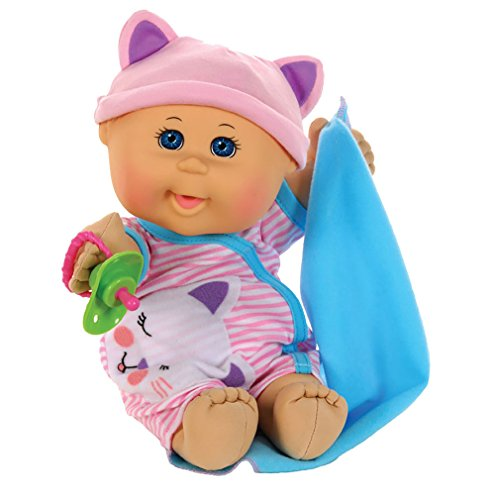 "Cabbage Patch Kids Naptime Babies 12.5"" Doll Blue Eye Girl Pink Stripe Jumper from Wicked Cool Toys"