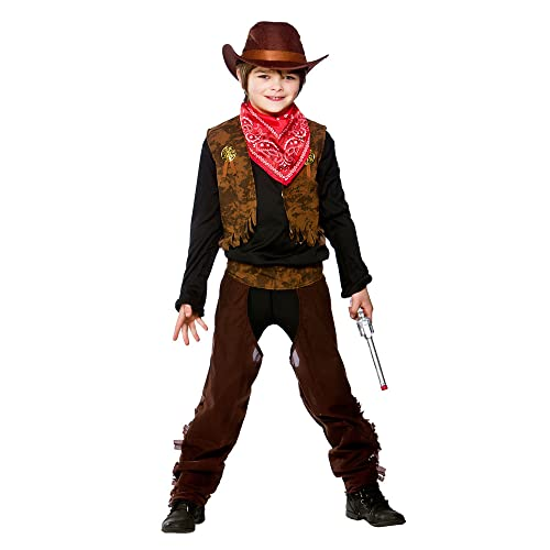 (M) Boys Wild West Cowboy Costume for Fancy Dress Childrens Kids Childs Medium Age 5-7 years from Wicked Costumes