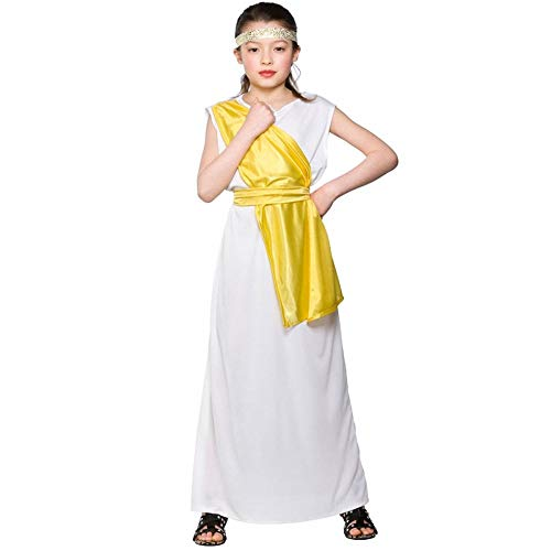 (L) Girls Greek Girl Costume for Ancient Historic Fancy Dress Childrens Kids Childs from Wicked Wicked