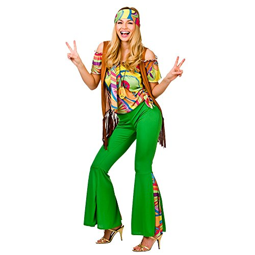 Groovy Hippie - Adult Costume Lady: XS (UK: 6-8) from Wicked Wicked