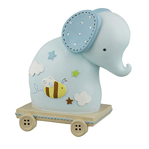 Petit Cheri Collection Resin Elephant Money Bank - Blue from Widdop & Co
