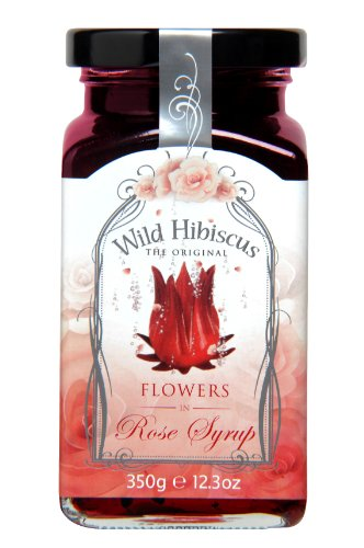 Wild Hibiscus Flower Wild Hibiscus in Rose Syrup, 1-Pack (1 x 350 g from Wild Hibiscus Flower