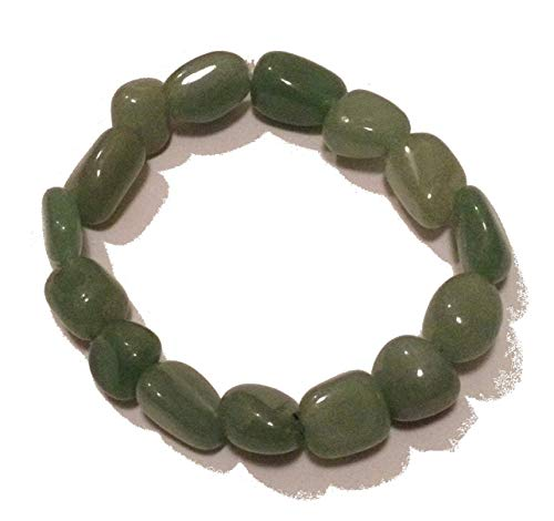 Green Aventurine Tumblestone Bracelet - Yoga - with Free Gift Bag from Wild Therapies