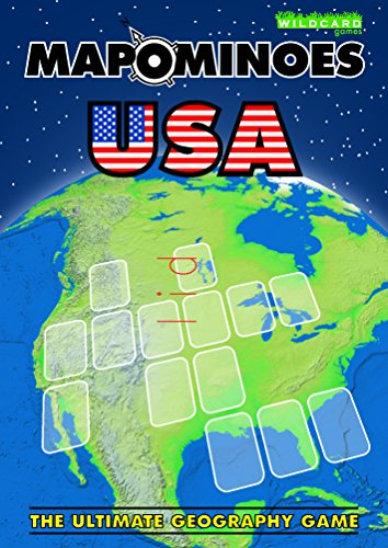 MAPOMINOES USA – The Ultimate Geography Game – Fun & educational travel card game about US states for kids teens and adults from Wildcard Games