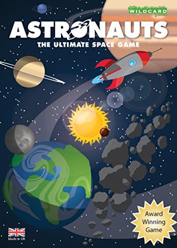 Astronauts – The Ultimate Space Game for kids teenagers and adults as you travel the solar system exploring planets and moons - Fun and educational astronomy gift from Wildcard Games