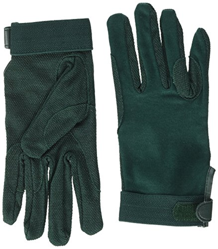 cotton pimple gloves velcro wrist - green - extra large from William Hunter Equestrian