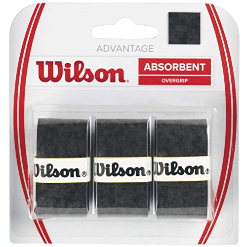 Wilson Overgrip, Advantage Overgrip, Unisex, Black, Pack of 3, WRZ4033BK from Wilson