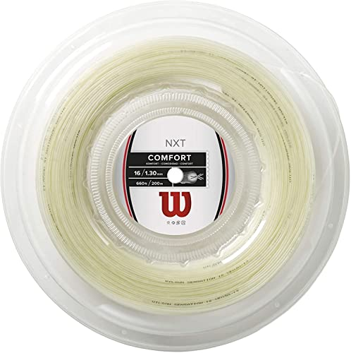 Wilson Tennis Racket String, NXT Control, 12.2 m, Transparent/Natural, 1.32 mm, Unisex, WRZ941900 from Wilson