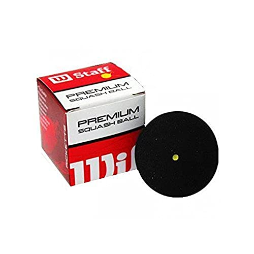 Wilson Unisex 2 Ball Dot Staff Squash, Black/Yellow, One Size from Wilson