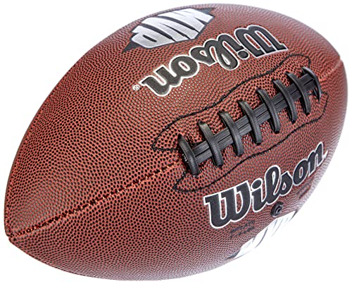 Wilson American Football, Recreational, Standard Size, MVP OFFICIAL, Brown, WTF1411XB from Wilson