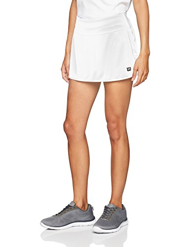 Wilson Women's W Team 12.5 Tennis Skirt, White, Large from Wilson