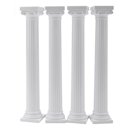 "Wilton 7 "" Grecian Pillars Wedding Stand Cake Decoration Presentation Set of 4 from Wilton"