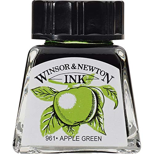 Winsor & Newton 14ml Drawing Ink Bottle - Apple Green from Winsor & Newton