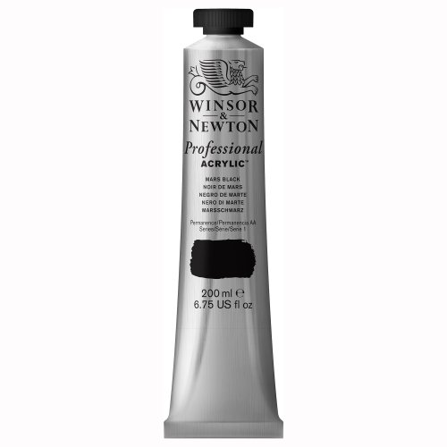 Winsor & Newton 200ml Professional Acrylic Colour Tube - Mars Black from Winsor & Newton