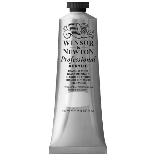 Winsor & Newton 60 ml Professional Acrylic Colour - Titanium White from Winsor & Newton