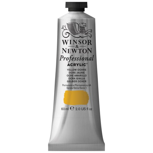 Winsor & Newton 60 ml Professional Acrylic Colour - Yellow Ochre from Winsor & Newton